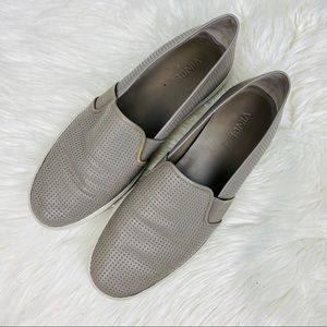 Vince • Blair Slip-On Leather Sneakers Size 10